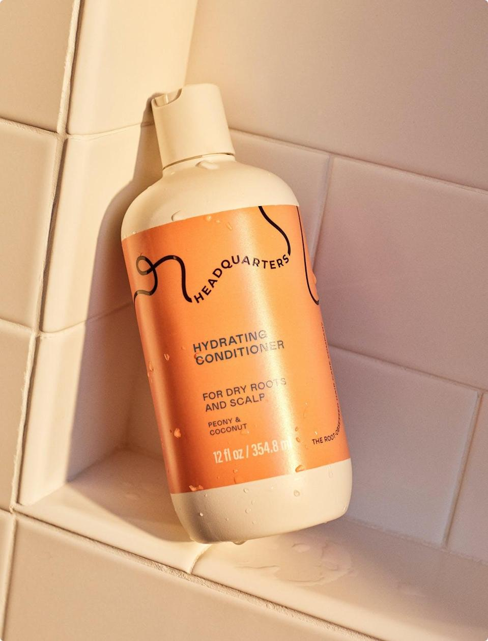 <p>I follow the shampoo with this <span>Headquarters Hydrating Conditioner - Dry</span> ($8), which is super thick and nourishing. I don't generally use conditioner on my roots, just my ends, but it still makes my hair look and feel so healthy.</p>