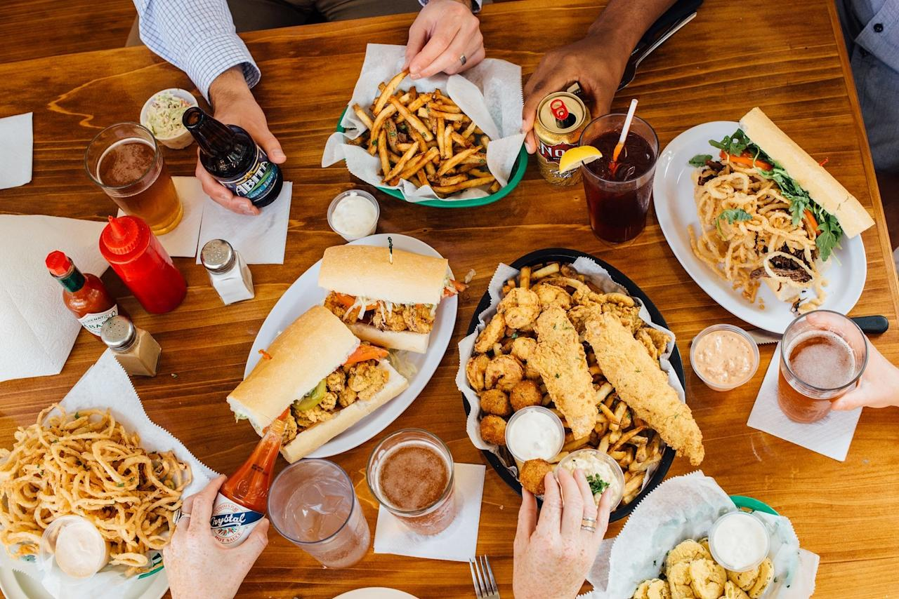 "<p><strong>Tell us about your first impressions when you arrived.</strong><br> The French Quarter location of Mahony's features an expanded menu and freshly shucked oysters, but the main draw is the same as its Uptown flagship: po' boy flavor profiles you won't find anywhere else.</p> <p><strong>What was the crowd like?</strong><br> A prime French Quarter location means the crowd is made up of well-meaning tourists looking for a slightly elevated take on tradition—a.k.a. what Guy Fieri ate when he featured the original Mahony's on Food Network in 2011.</p> <p><strong>What should we be drinking?</strong><br> Signature cocktails include a Fish House Punch fortified with black tea, whiskey, and rum and a Bloody Mahony that blends a house-made spiced tomato mix with bacon-infused Tito's vodka. And while there's certainly wine available, one of the biggest draws is the draft list, which leans heavily on Louisiana breweries like Gnarley Barley, Abita, and Urban South.</p> <p><strong>Main event: the food. Give us the lowdown—especially what not to miss.</strong><br> The fine dining background of founding chef Ben Wicks has remained at the heart of Mahony's po' boy menu since day one. (Wicks sold the business in 2013, but his signature recipes stuck around.) Good luck deciding between sandwiches like fried chicken livers cut with a Creole coleslaw and mustard vinaigrette; a ""Peacemaker"" combo of fried gulf shrimp and oysters, buoyed with cheddar cheese and bacon; and root beer-braised short ribs, rounded out by fried onion rings, arugula, tomatoes, and garlic aioli.</p> <p><strong>And how did the front-of-house folks treat you?</strong><br> Mahony's is more of a proper sit-down restaurant—with the prices and non po' boy options to match—so its servers are swift and happy to make suggestions if you can't decide what to order.</p> <p><strong>What's the real-real on why we're coming here?</strong><br> If you're looking to make sense of the small but mighty new-school po' boy scene, Mahony's and the nearby <a href=""https://www.cntraveler.com/restaurants/new-orleans/killer-poboys?mbid=synd_yahoo_rss"">Killer Po' Boys</a> make for quite an appetite-crushing sandwich crawl.</p>"