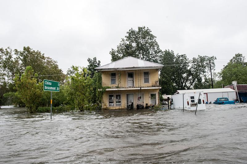 CHINA, Texas ―As the sun came outin Houston for the first time in nearly a week Wednesday, Texans to the east of the city were inundated with rain and rising waters in the aftermath of Hurricane Harvey.