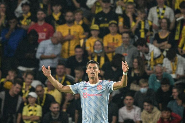 Cristiano Ronaldo's third goal in two games for Manchester United came in vain against Swiss champions Young Boys (AFP/SEBASTIEN BOZON)