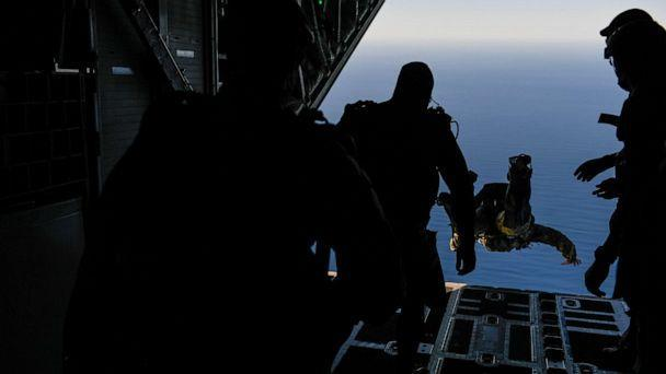 PHOTO: SEAL Team 7 members jump from an MC-130J Commando II during Emerald Warrior/Trident at Naval Air Station North Island, Calif., Jan. 19, 2019. Three SEAL Team 7 leaders were relieved of duty on Friday. (Senior Airman Erin Piazza/U.S. Navy)