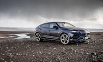 """<p>Lamborghini's first SUV since the Countach-powered LM002 of the 1980s is also Italy's most powerful. Lambo is owned by Volkswagen, as is Audi, Bentley, and Porsche, and the <a href=""""https://www.caranddriver.com/lamborghini/urus"""" rel=""""nofollow noopener"""" target=""""_blank"""" data-ylk=""""slk:Urus"""" class=""""link rapid-noclick-resp"""">Urus</a> shares much of its underpinning with the Audi Q8. The wildly styled super SUV is also the only Lambo with less than 10 cylinders. It's powered by a twin-turbocharged 4.0-liter V-8 making 641 horsepower and 627 lb-ft of torque, which is bolted to an eight-speed automatic transmission. In our testing, it <a href=""""https://www.caranddriver.com/reviews/a25586965/2019-lamborghini-urus-road-trip-iceland/"""" rel=""""nofollow noopener"""" target=""""_blank"""" data-ylk=""""slk:required a mere 3.1 seconds to reach 60 mph"""" class=""""link rapid-noclick-resp"""">required a mere 3.1 seconds to reach 60 mph</a> and tore up the quarter-mile in 11.3 seconds at 121 mph and is the quickest production SUV we've tested. Lamborghini claims a top speed of 190 mph.</p><p><a class=""""link rapid-noclick-resp"""" href=""""https://www.caranddriver.com/lamborghini/urus"""" rel=""""nofollow noopener"""" target=""""_blank"""" data-ylk=""""slk:MORE URUS SPECS"""">MORE URUS SPECS</a></p>"""