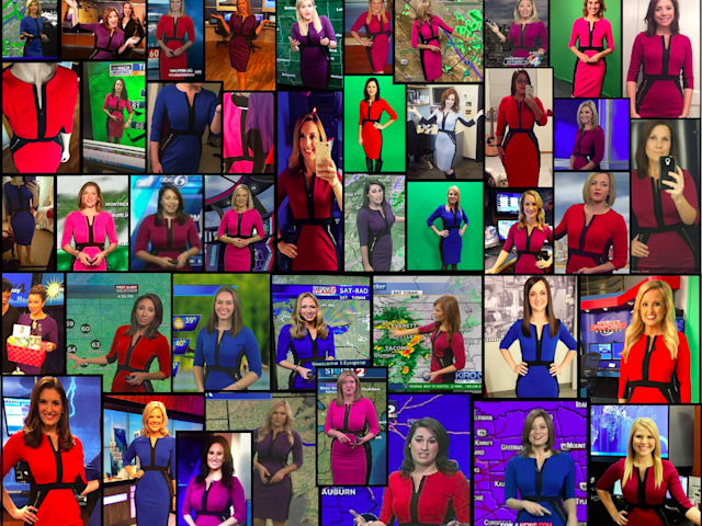 This universally flattering dress is in nearly every TV newscaster's closet. (Photo: IMGUR)