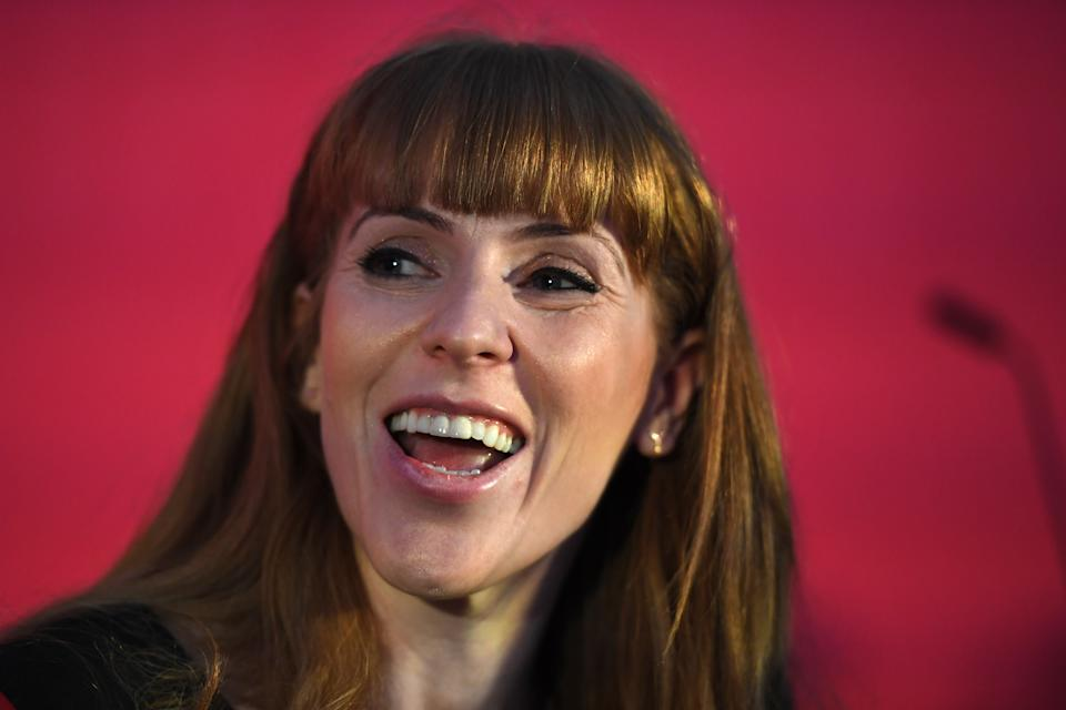 BRISTOL, ENGLAND - FEBRUARY 01: Labour MP, Angela Rayner, after taking part in the party deputy leadership hustings at Ashton Gate Stadium on February 01, 2020 in Bristol, England. Five candidates are vying to become the new Labour deputy leader following the departure of Tom Watson who stood down in November last year. (Photo by Finnbarr Webster/Getty Images)