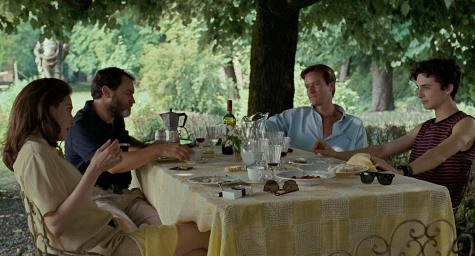 With Amira Casar, Armie Hammer and Timothée Chalamet in Call Me by Your NameFrenesy Film Co/Sony/Kobal/Shutterstock