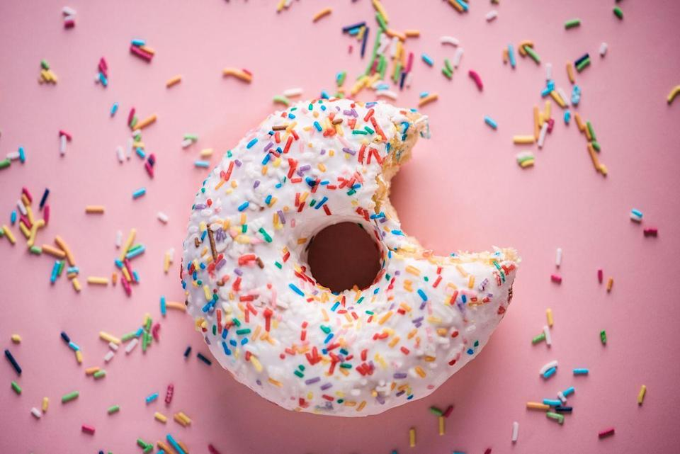 """<p>Danishes, donuts and other bakery goodies are not only high in fat, sugar and white flour, but they also may be transporting trans fats into your bloodstream.</p><p>As a reminder, """"trans fat can increase risk of developing heart disease since they simultaneously lower good <a href=""""https://www.prevention.com/health/a20431093/how-to-lower-cholesterol-naturally-0/"""" rel=""""nofollow noopener"""" target=""""_blank"""" data-ylk=""""slk:cholesterol"""" class=""""link rapid-noclick-resp"""">cholesterol </a>and raise bad cholesterol,"""" Fisher says.</p>"""