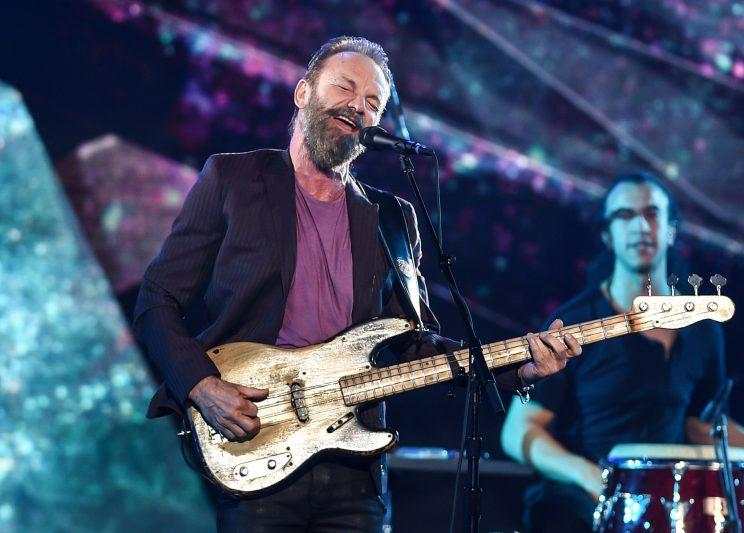 Sting at the 2016 NBA All-Star Game
