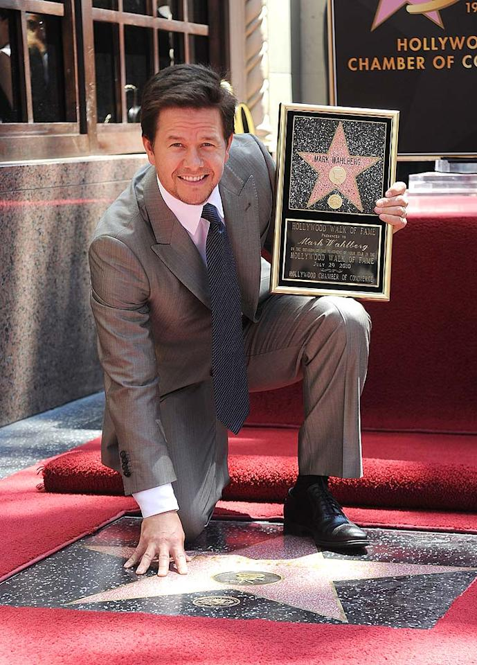 "Mark Wahlberg was honored with a star on the Hollywood Walk Of Fame Thursday. At the ceremony, the former rapper and underwear model turned Oscar nominee for ""The Departed"" cracked, ""When I heard I was getting this star, I felt like it was a practical joke."" Frazer Harrison/<a href=""http://www.gettyimages.com/"" target=""new"">GettyImages.com</a> - July 29, 2010"