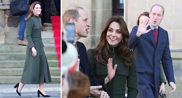The Duke and Duchess of Cambridge arrive in Bradford for a day of joint engagements. [Photo: PA/Getty]