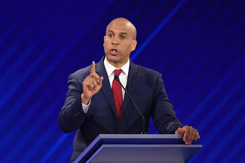 Democratic presidential hopeful New Jersey Senator Cory Booker speaks during the third Democratic primary debate of the 2020 presidential campaign season hosted by ABC News in partnership with Univision at Texas Southern University in Houston, Texas on September 12, 2019. ((Photo: Robyn Beck/AFP/Getty Images)