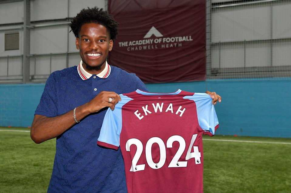 <p>Pierre Ekwah has signed an initial three-year deal at West Ham</p> (Arfa / Griffiths Photographers)