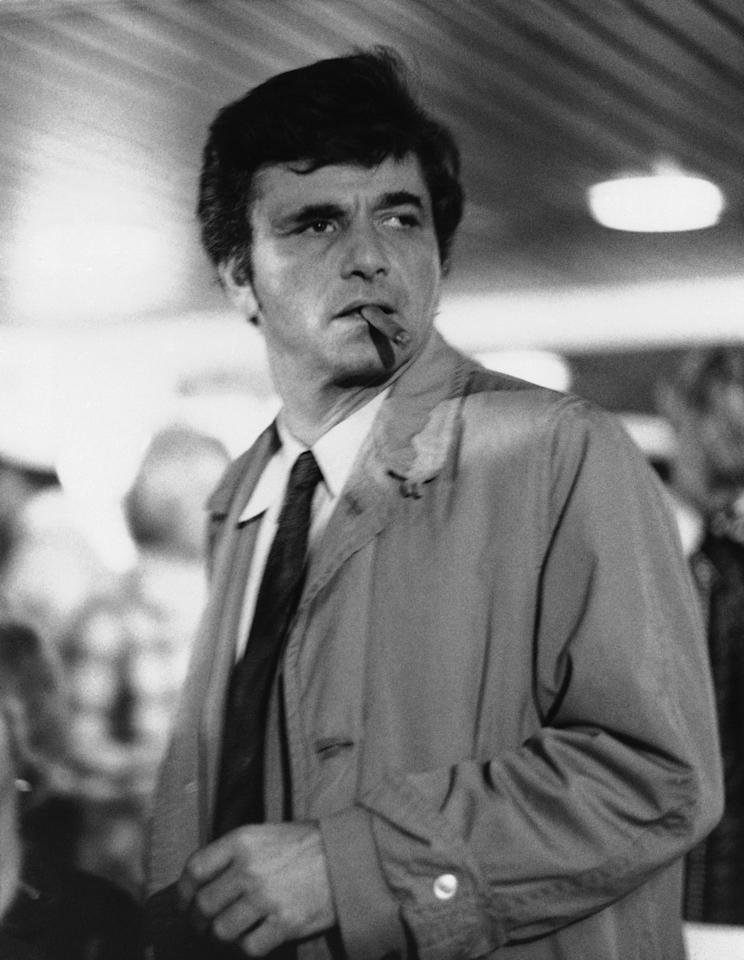 "FILE - In this 1972 file photo originally released by NBC, Peter Falk is ahown as homicide detective Lieutenant Columbo in the NBC series, ""Columbo."" Falk, the stage and movie actor who became identified as the squinty, rumpled detective in ""Columbo,"" died Thursday, June 23, 2011 at his Beverly Hills, Calif., home. He was 83. (AP Photo/NBC, file)"