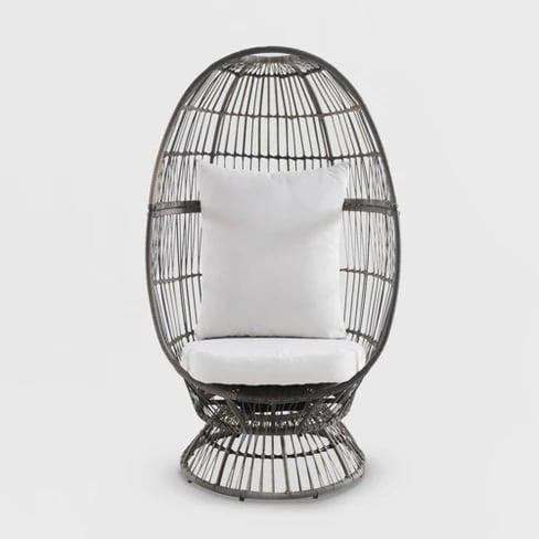 <p>The <span>Latigo Swivel Patio Egg Chair</span> ($400) can stand on its own, or you can work it into the rest of your outdoor decor!</p>