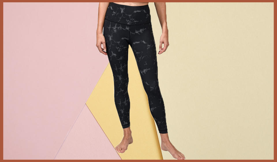 Printed leggings are the little black dress of this stay-at-home winter. (Photo: Nordstrom Rack)