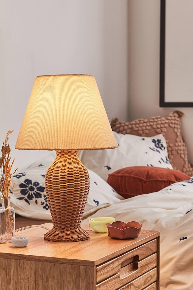 """<p>Upgrade your side table with this <a href=""""https://www.popsugar.com/buy/Priscilla-Table-Lamp-555127?p_name=Priscilla%20Table%20Lamp&retailer=urbanoutfitters.com&pid=555127&price=99&evar1=casa%3Aus&evar9=47291840&evar98=https%3A%2F%2Fwww.popsugar.com%2Fphoto-gallery%2F47291840%2Fimage%2F47292186%2FPriscilla-Table-Lamp&list1=shopping%2Curban%20outfitters%2Chome%20decor%2Cspring%2Chome%20shopping&prop13=api&pdata=1"""" rel=""""nofollow"""" data-shoppable-link=""""1"""" target=""""_blank"""" class=""""ga-track"""" data-ga-category=""""Related"""" data-ga-label=""""https://www.urbanoutfitters.com/shop/priscilla-table-lamp?category=lighting&amp;color=111&amp;type=REGULAR&amp;size=ONE%20SIZE&amp;quantity=1"""" data-ga-action=""""In-Line Links"""">Priscilla Table Lamp</a> ($99).</p>"""