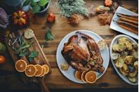 "<p>Perhaps the most obvious of the Thanksgiving activities, cooking dinner (<a href=""https://www.townandcountrymag.com/leisure/dining/g34426550/best-mail-order-turkeys/"" rel=""nofollow noopener"" target=""_blank"" data-ylk=""slk:including a turkey"" class=""link rapid-noclick-resp"">including a turkey</a>, of course) is both a safe and delicious holiday activity. Whether you're cooking for your immediate family or just for one, crafting the meal is half the fun. Not in the mood to spend all day in the kitchen? <a href=""https://www.townandcountrymag.com/leisure/dining/g13438943/nyc-restaurants-open-on-thanksgiving/"" rel=""nofollow noopener"" target=""_blank"" data-ylk=""slk:Try a takeout feast"" class=""link rapid-noclick-resp"">Try a takeout feast</a>. </p>"