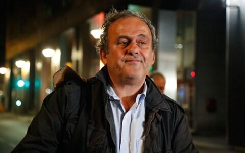 Ex-UEFA chief Michel Platini leaves the Central Office for Combating Corruption and Financial and Tax Crimes - Credit: AFP