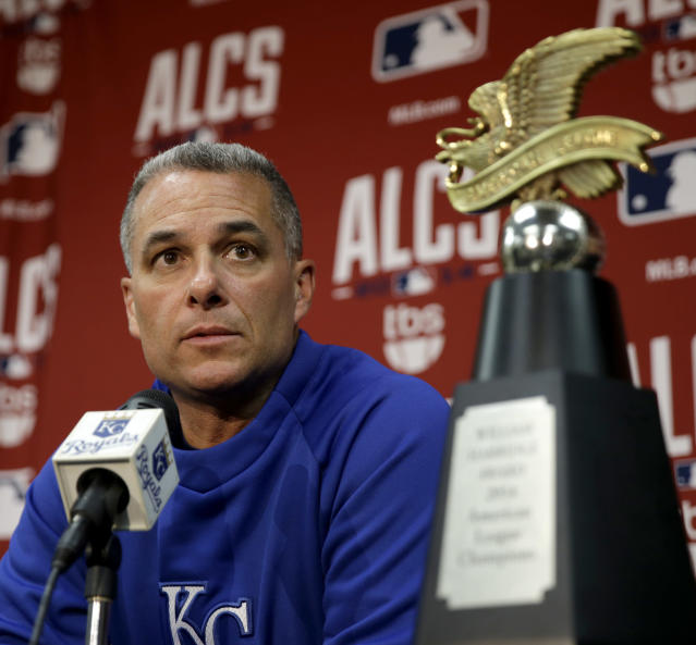 Royals general manager Dayton Moore has talked about his concerns regarding pornography in the past. (AP Photo)