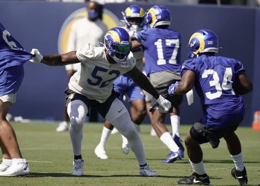 Rams LB Terrell Lewis' knee problem less serious than feared