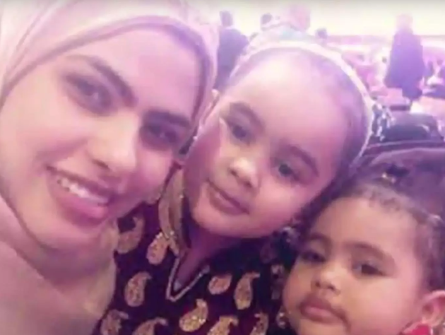 Rania Ibrahim with her daughter Fathia and Hania who also died in the fire