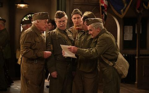 Timothy West as Private Godfrey, Kevin Eldon as Lance Corporal Jones, Tom Rosenthal as Private Pike, Mathew Horne as Private Walker and David Hayman as Private Frazer in Dad's Army: The Lost Episodes - Credit: UKTV