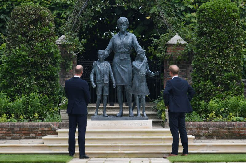 Statue of Britain's Princess Diana is unveiled in London