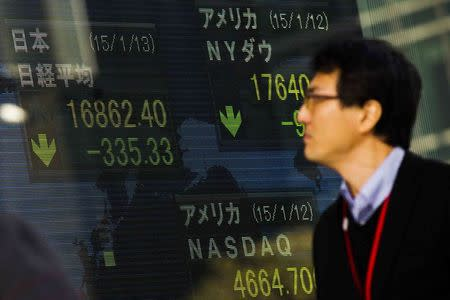 Asian stocks were mixed in morning trade
