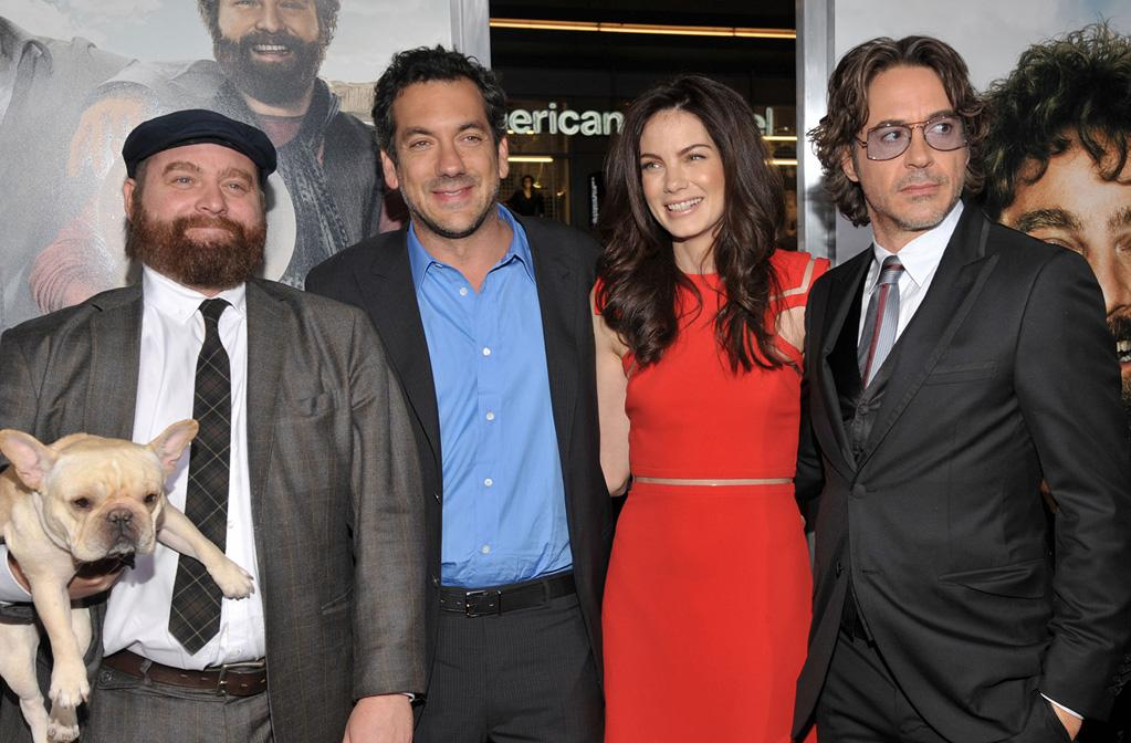 """<a href=""""http://movies.yahoo.com/movie/contributor/1805534781"""">Zach Galifianakis</a>, <a href=""""http://movies.yahoo.com/movie/contributor/1800189154"""">Todd Phillips</a>, <a href=""""http://movies.yahoo.com/movie/contributor/1804504037"""">Michelle Monaghan</a> and <a href=""""http://movies.yahoo.com/movie/contributor/1800010914"""">Robert Downey Jr.</a> attend the Los Angeles premiere of <a href=""""http://movies.yahoo.com/movie/1810116445/info"""">Due Date</a> on October 28, 2010."""