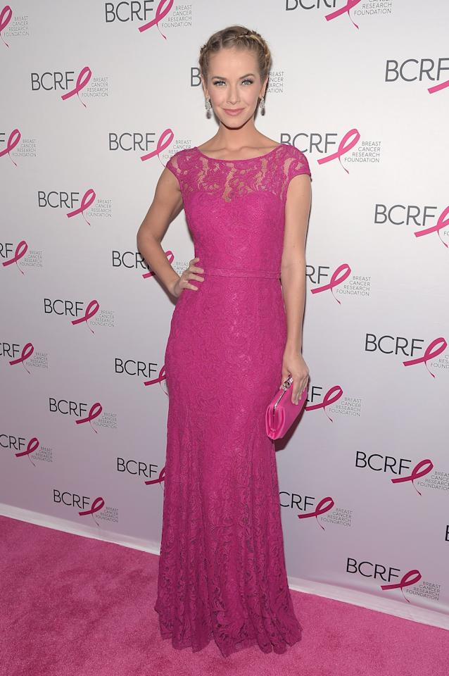 NEW YORK, NEW YORK - APRIL 12:  Miss USA 2015 Olivia Jordan walks the red carpet at the Breast Cancer Research Foundation's Hot Pink Party at the Waldorf Astoria Hotel on April 12, 2016 in New York City.  (Photo by Theo Wargo/Getty Images for BCRF)