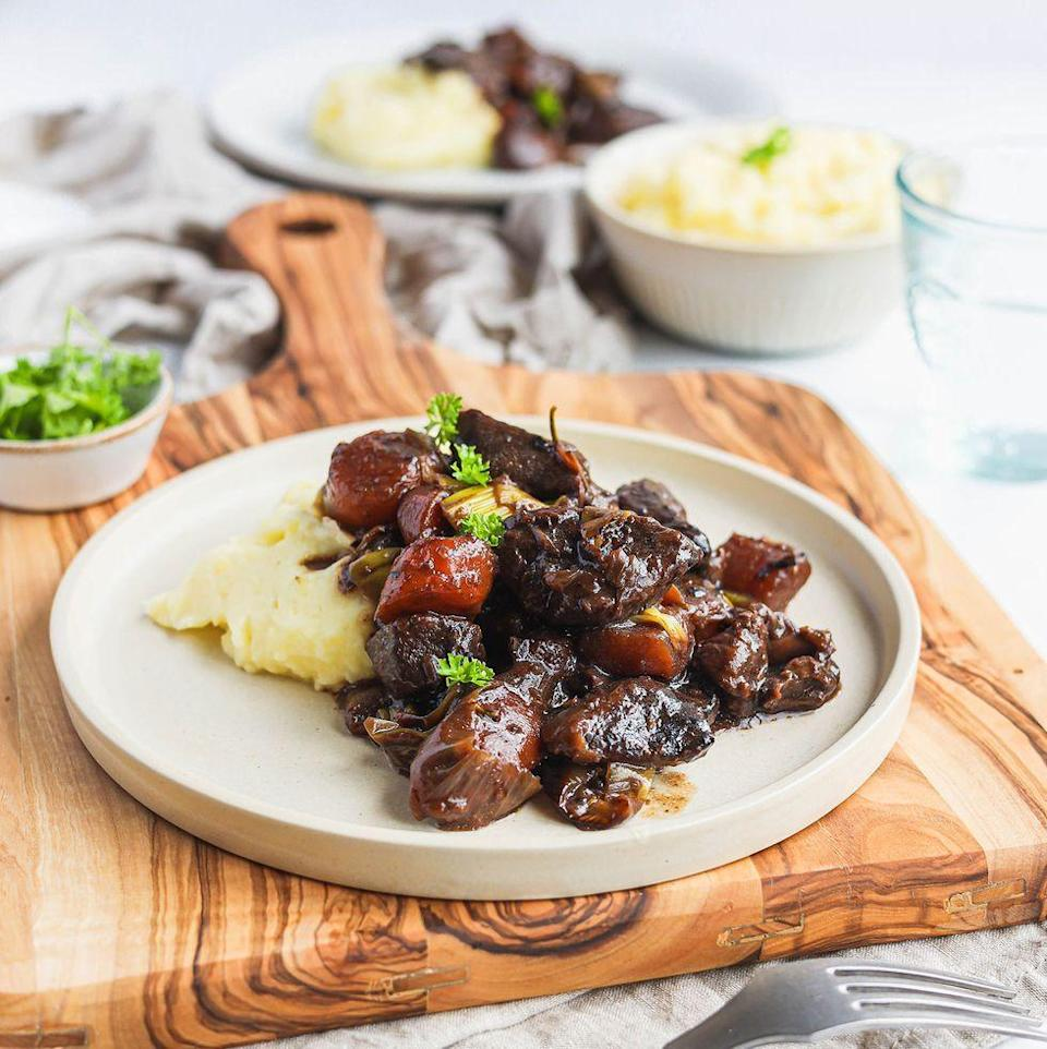 """<p>Venison <a href=""""https://www.delish.com/uk/cooking/recipes/g36437917/sausage-recipes/"""" rel=""""nofollow noopener"""" target=""""_blank"""" data-ylk=""""slk:casserole"""" class=""""link rapid-noclick-resp"""">casserole</a> is such a beautiful dish in the colder months, and benefits from that low and slow cooking process. </p><p>Get the <a href=""""https://www.delish.com/uk/cooking/recipes/a37372465/venison-casserole/"""" rel=""""nofollow noopener"""" target=""""_blank"""" data-ylk=""""slk:Venison Casserole"""" class=""""link rapid-noclick-resp"""">Venison Casserole</a> recipe.</p>"""
