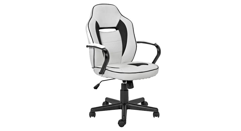 Argos Home Faux Leather Mid Back Gaming Chair