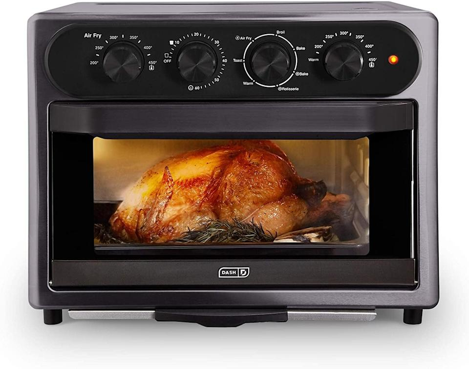 <p>The <span>Dash Chef Series 7-in-1 Convection Toaster Oven Cooker</span> ($125, originally $180) lets you air fry, toast, convection bake, broil, rotisserie all in one product. It comes with a non-stick fry basket, baking pan and rack, skewers, and a drip tray so the possibilities are endless. </p>