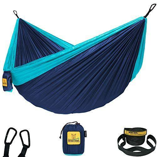 """<p><strong>Wise Owl Outfitters</strong></p><p>amazon.com</p><p><strong>$29.95</strong></p><p><a href=""""https://www.amazon.com/dp/B01E3EHRVS?tag=syn-yahoo-20&ascsubtag=%5Bartid%7C10050.g.30983323%5Bsrc%7Cyahoo-us"""" rel=""""nofollow noopener"""" target=""""_blank"""" data-ylk=""""slk:Shop Now"""" class=""""link rapid-noclick-resp"""">Shop Now</a></p><p>Clocking in at 9-feet long, this parachute nylon hammock is sure to keep you comfortable in the great outdoors. A low price point and 16 different color choices means you can basically justify getting one for each person in your family.</p>"""