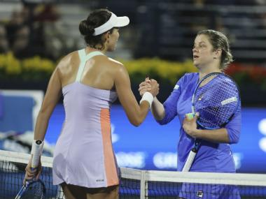 Dubai Tennis Championships: Kim Clijsters loses in straight sets against Garbine Muguruza on return to WTA Tour