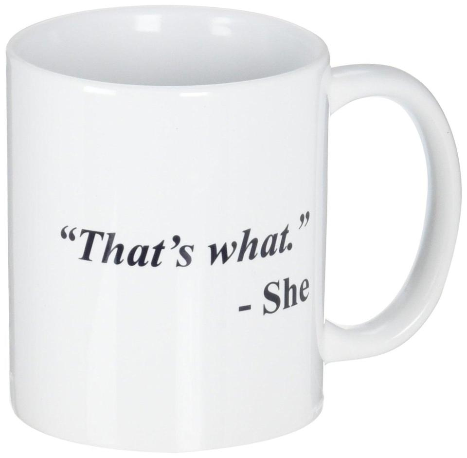 <p>Get an LOL out of your guy with this <span>A Mug To Keep That's What She Said Mug</span> ($12).</p>