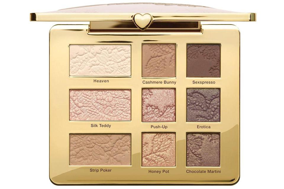 """<p>Too Faced's Natural Eye Palette is the OG of eyeshadows. The 9-shade palette holds a range of matte, shimmer and satin shades that are all insanely flattering. If you want to create a 'your eyes but better' look, this palette is worth picking up. No wonder it's so popular... </p><p><a href=""""https://www.cultbeauty.co.uk/too-faced-natural-eye-neutral-eye-shadow-palette.html"""" rel=""""nofollow noopener"""" target=""""_blank"""" data-ylk=""""slk:buy now"""" class=""""link rapid-noclick-resp"""">buy now</a><br></p>"""