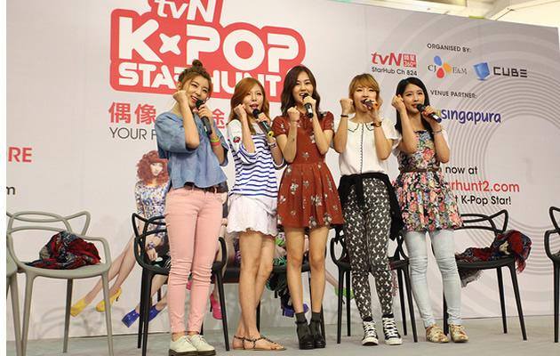 4 Minute at their Plaza Singapore appearance (Photo courtesy of tvN)