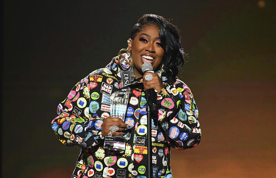 OXON HILL, MARYLAND - DECEMBER 05:  Missy Elliott speaks onstage during 2019 Urban One Honors at MGM National Harbor on December 05, 2019 in Oxon Hill, Maryland. (Photo by Paras Griffin/Getty Images)
