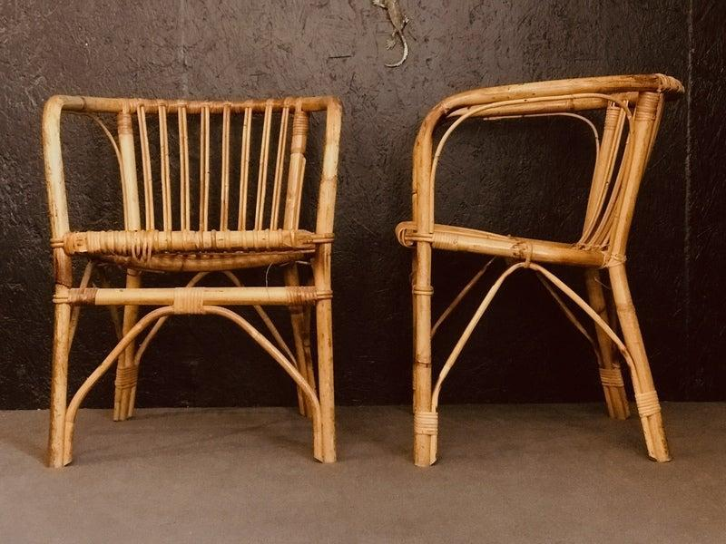 """<br><br><strong>Unknown</strong> A Pair Of Mid Century Bamboo Armchairs, $, available at <a href=""""https://www.vinterior.co/furniture/seating/armchairs/a-pair-of-mid-century-bamboo-armchairs"""" rel=""""nofollow noopener"""" target=""""_blank"""" data-ylk=""""slk:Vinterior"""" class=""""link rapid-noclick-resp"""">Vinterior</a>"""