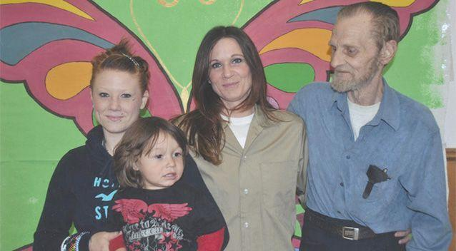 Barbara, centre, with her father, daughter Alannah, and grandson. Photo: Barbara Scrivner.
