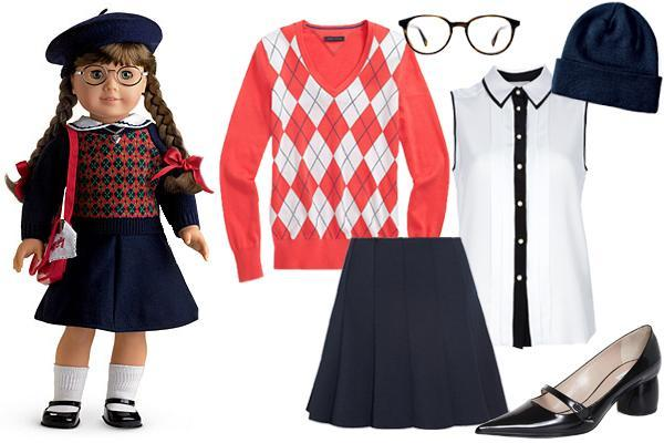 """<div class=""""caption-credit""""> Photo by: Courtesy of American Girl</div><b>Molly McIntire</b> (1943) - Molly was the only doll with glasses, and, let's be honest, you wanted her for that extra accessory. You <i>know</i> she'd own a pair of Warby Parker specs if she were around today, and, as far as Marc Jacobs is concerned, her Mary Janes are equally on-trend. Molly's wardrobe was functional and versatile like Kit's (she's even sporting a dickie instead of a complete blouse), but we'd update her look with a couple of layers and a louder argyle print. <br> <br> <b><a rel=""""nofollow noopener"""" href=""""http://www.refinery29.com/arrested-development-fashion"""" target=""""_blank"""" data-ylk=""""slk:NEXT: 20 Crucial Fashion Lessons We Learned From Arrested Development"""" class=""""link rapid-noclick-resp"""">NEXT: 20 Crucial Fashion Lessons We Learned From Arrested Development <br></a> <br></b>"""