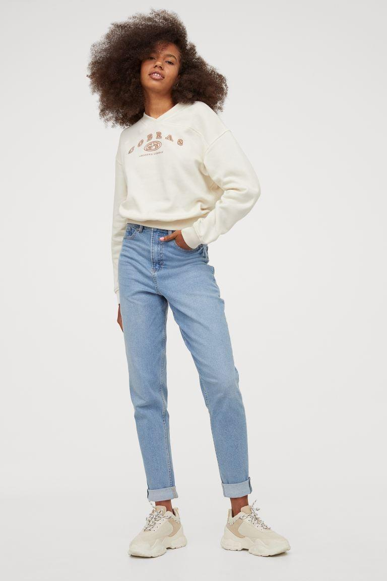 <p>These <span>H&amp;M Mom High Ankle Jeans</span> ($27, originally $30) are the jeans you're going to want to wear every day. They're a little bit slouchy, so comfortable, and easy to style.</p>