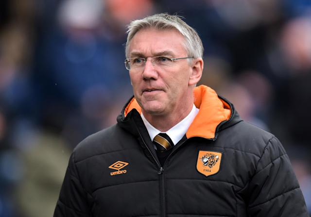 "Soccer Football - Championship - Preston North End vs Hull City - Deepdale, Preston, Britain - February 3, 2018 Hull City manager Nigel Adkins Action Images/Paul Burrows EDITORIAL USE ONLY. No use with unauthorized audio, video, data, fixture lists, club/league logos or ""live"" services. Online in-match use limited to 75 images, no video emulation. No use in betting, games or single club/league/player publications. Please contact your account representative for further details."
