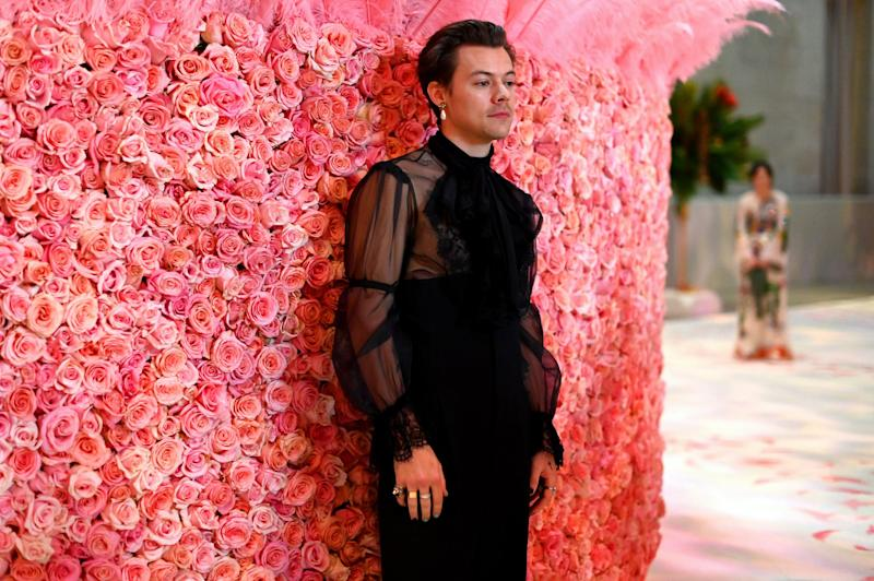 NEW YORK, NEW YORK - MAY 06: (EXCLUSIVE COVERAGE) Harry Styles attends The 2019 Met Gala Celebrating Camp: Notes on Fashion at Metropolitan Museum of Art on May 06, 2019 in New York City. (Photo by Matt Winkelmeyer/MG19/Getty Images for The Met Museum/Vogue)