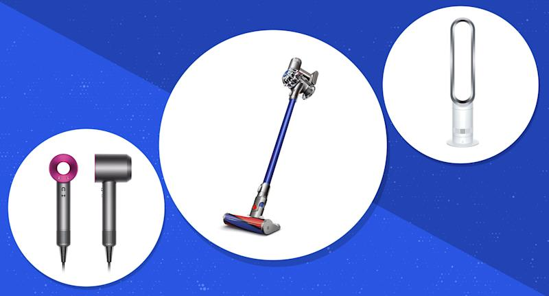 For a limited time, Ebay shoppers can save an extra 20 percent off Dyson products until April 28 (Photo: Ebay, Art: Yahoo Lifestyle photo-illustration)