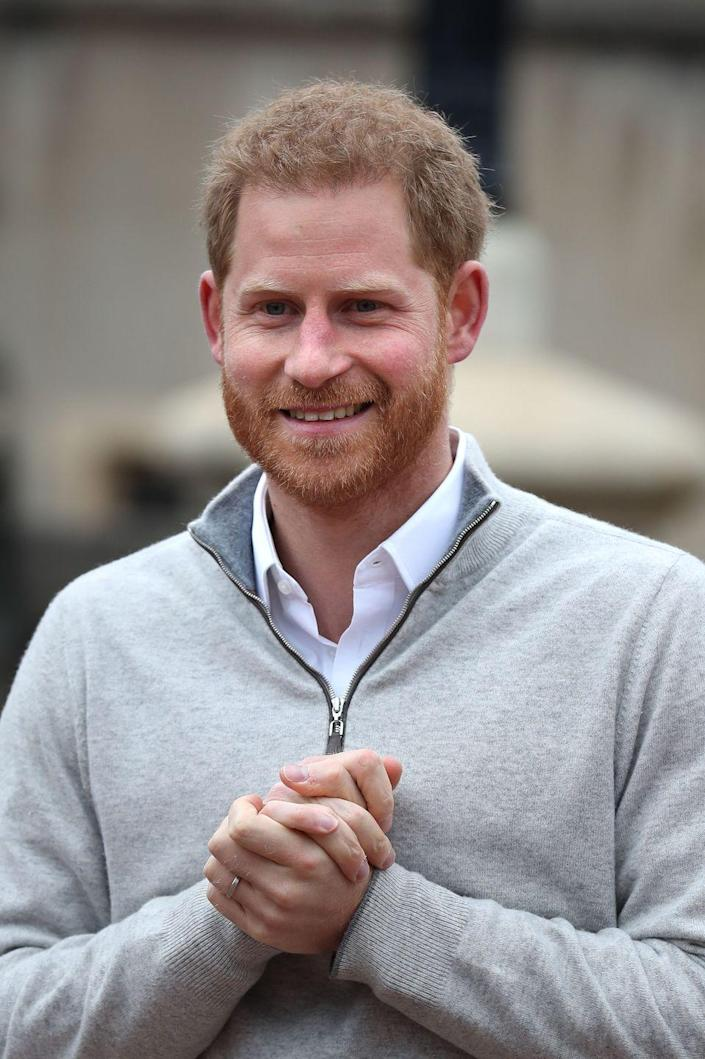 <p>Prince Harry is officially a dad! After the birth of his son, Archie, Harry snuck out of the hospital to give a brief press conference, where the new father was grinning from ear to ear.</p>