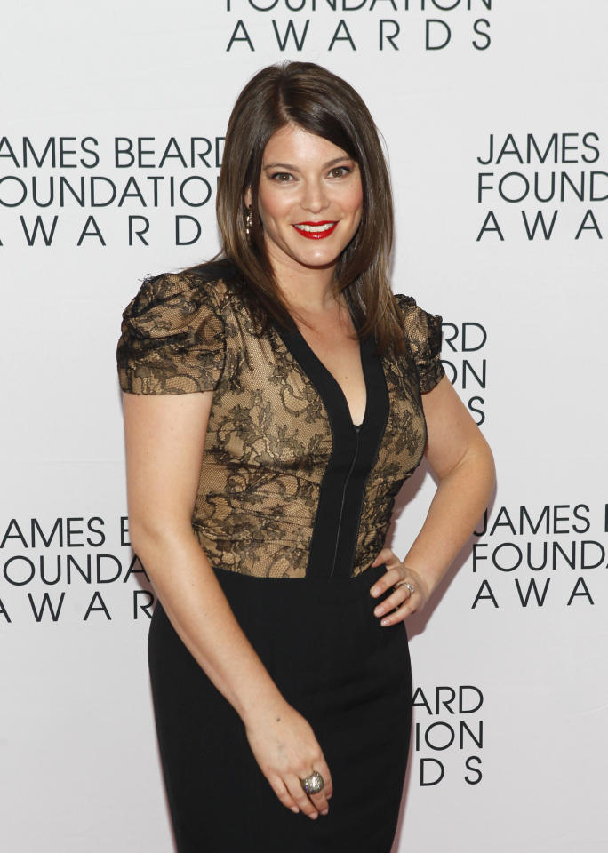 Gail Simmons, of Top Chef, arrives for the James Beard Foundation Awards, Monday, May 7, 2012, in New York. (AP Photo/Jason DeCrow)