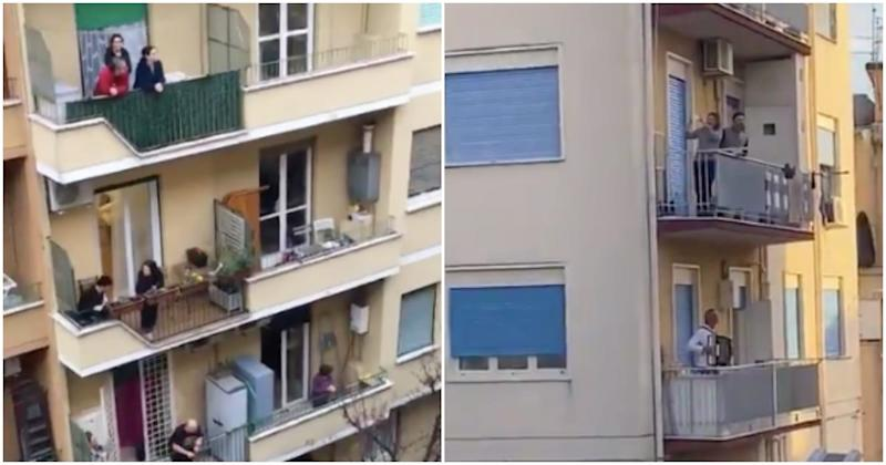 Videos Show Italians Singing From Balconies While Quarantined