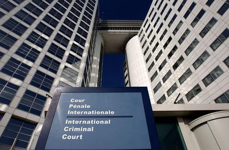 FILE PHOTO: The entrance of the International Criminal Court (ICC) is seen in The Hague, Netherlands, March 3, 2011. REUTERS/Jerry Lampen/File Photo