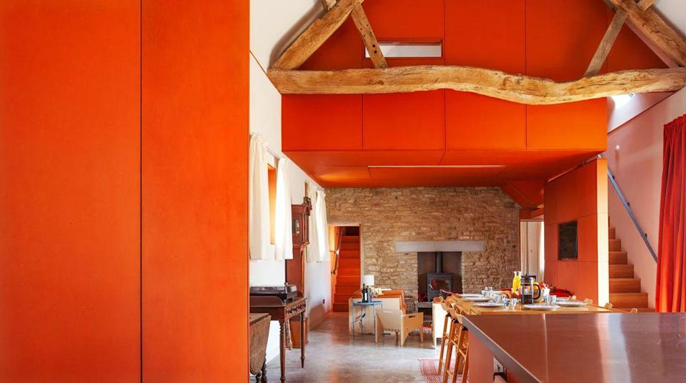 """<p>Fans of the colour orange, this pad's for you. Built in 1799, the impressive Cotswold stone barn was recently converted by celebrated architect Henning Stummel to create a modern space with a deep appreciation for its rich history. Bold hues are found throughout <a href=""""https://go.redirectingat.com?id=127X1599956&url=https%3A%2F%2Fwww.plumguide.com%2Fhomes%2F31379%2Fapples-to-oranges&sref=https%3A%2F%2Fwww.menshealth.com%2Fuk%2Fadventure%2Fg36954308%2Funique-places-to-stay-uk%2F"""" rel=""""nofollow noopener"""" target=""""_blank"""" data-ylk=""""slk:Apples to Oranges"""" class=""""link rapid-noclick-resp"""">Apples to Oranges</a> and the main living area was designed to preserve the original, exposed green oak timbers.</p><p>There's a piano room with a wood-burning fire for cosy evenings and each bedroom is reached via individual staircases off the living space. Its location? The unique place to stay is between charming Cheltenham and the rolling hills of the Cotswolds, so you have plenty to see and do during your trip.</p><p><strong>Sleeps: </strong>6 + pets welcome</p><p><strong>Available from:</strong> <a href=""""https://go.redirectingat.com?id=127X1599956&url=https%3A%2F%2Fwww.plumguide.com%2Fhomes%2F31379%2Fapples-to-oranges&sref=https%3A%2F%2Fwww.menshealth.com%2Fuk%2Fadventure%2Fg36954308%2Funique-places-to-stay-uk%2F"""" rel=""""nofollow noopener"""" target=""""_blank"""" data-ylk=""""slk:Plum Guide"""" class=""""link rapid-noclick-resp"""">Plum Guide</a></p><p><strong>Price:</strong> Four nights from £1,139</p><p><a class=""""link rapid-noclick-resp"""" href=""""https://go.redirectingat.com?id=127X1599956&url=https%3A%2F%2Fwww.plumguide.com%2Fhomes%2F31379%2Fapples-to-oranges&sref=https%3A%2F%2Fwww.menshealth.com%2Fuk%2Fadventure%2Fg36954308%2Funique-places-to-stay-uk%2F"""" rel=""""nofollow noopener"""" target=""""_blank"""" data-ylk=""""slk:CHECK AVAILABILITY"""">CHECK AVAILABILITY</a></p>"""